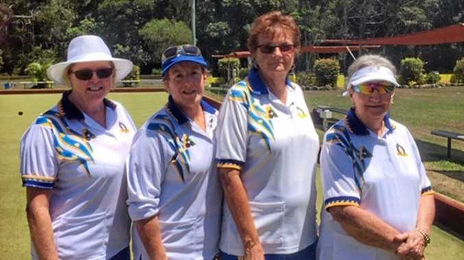 WINNERS: Brunswick Heads Women's Club Fours champions Jenny Andrew, Ilona Pettendy, Sherril Pearce and Lyn Proudlock.