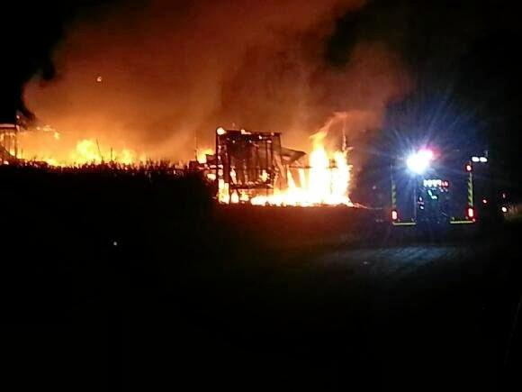 A fire destroyed a storage shed inside the grounds of Fairymead Mill during the early hours of Thursday morning January 22, 2015.
