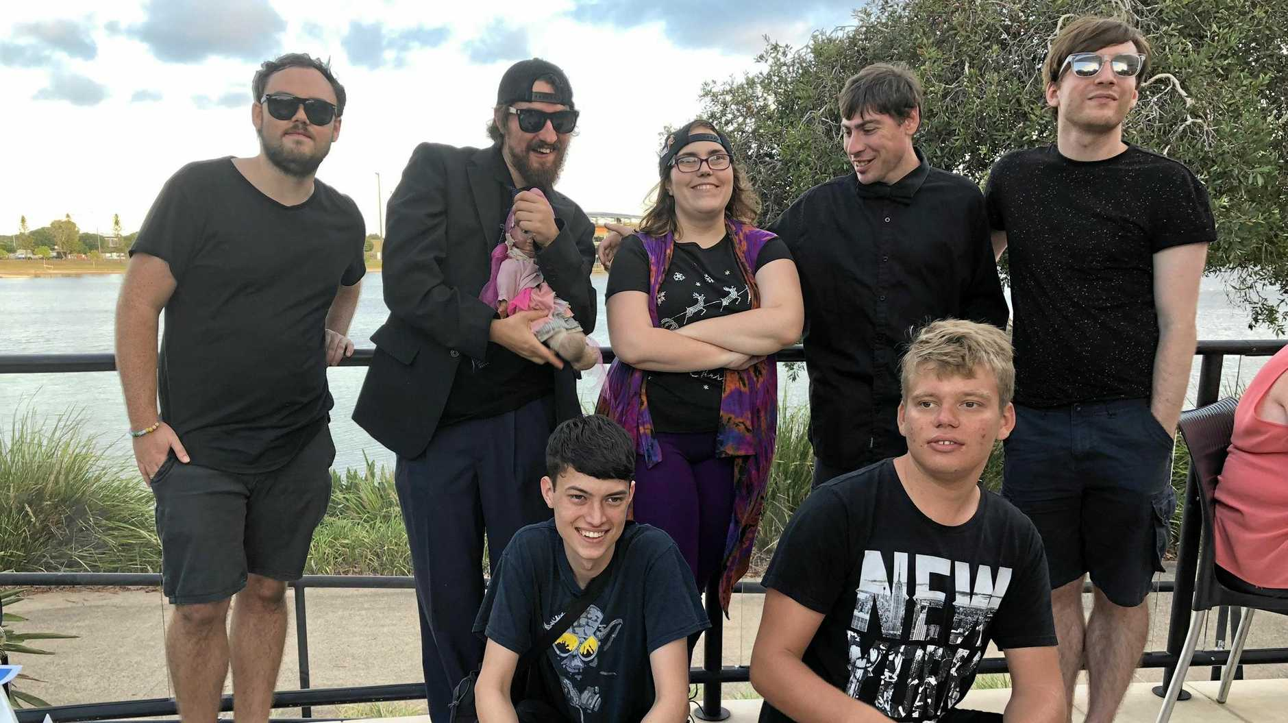 Sunshine Coast band The Outsiders has recorded a national anthem advocating for people with disabilities. Front left to right: Cal Young, Corey Bourke; Back left to right: Patrick Isles, Jesse Van-Handley, Allycia Staples, Nick Dow, Matthew Graham