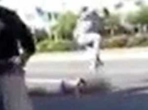 Teen stomps on man's head in graphic bashing video