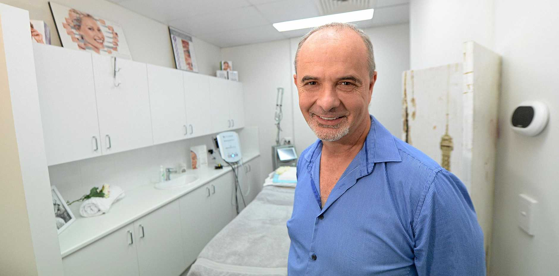 CHARGED: Dr Stephen Murray at the Capricorn Skin and laser centre.