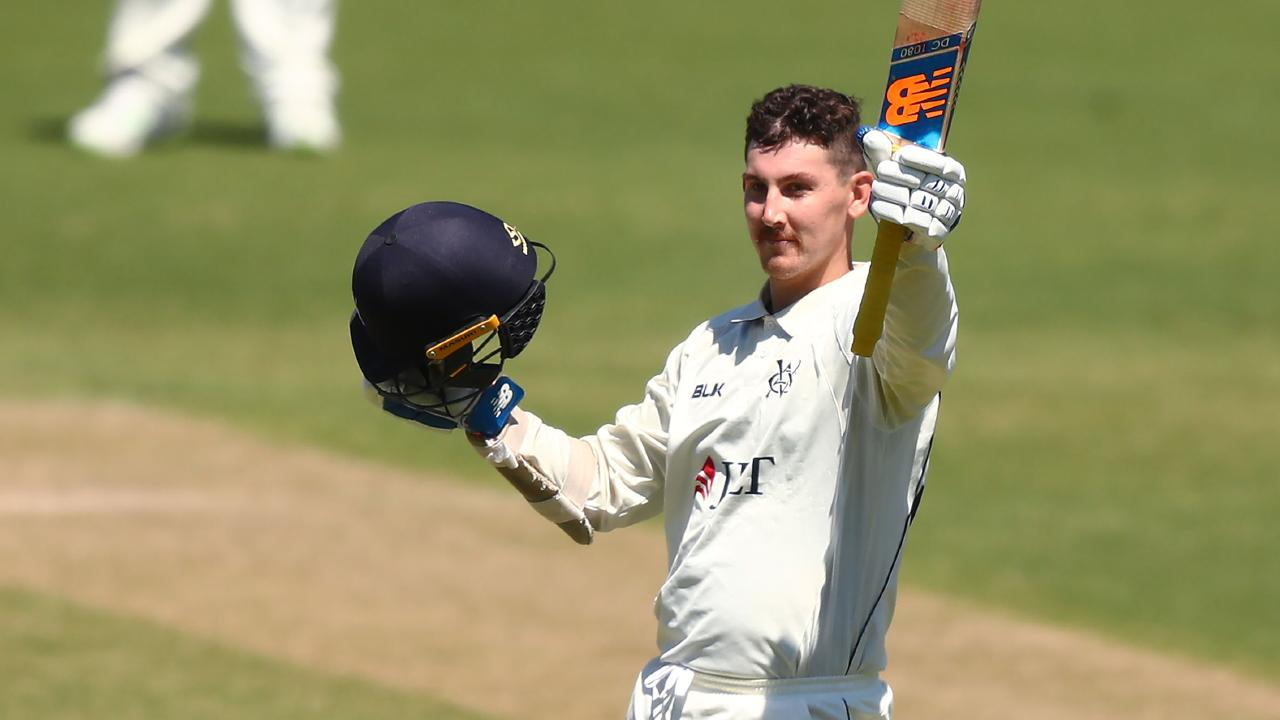 NSW discard Nic Maddinson is loving life at his new state Victoria, striking a rich vein of Shield form.