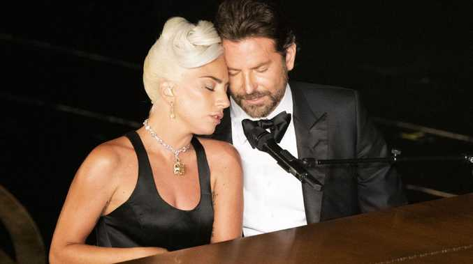 Lady Gaga and Bradley Cooper sing at the Oscars. Picture: Getty