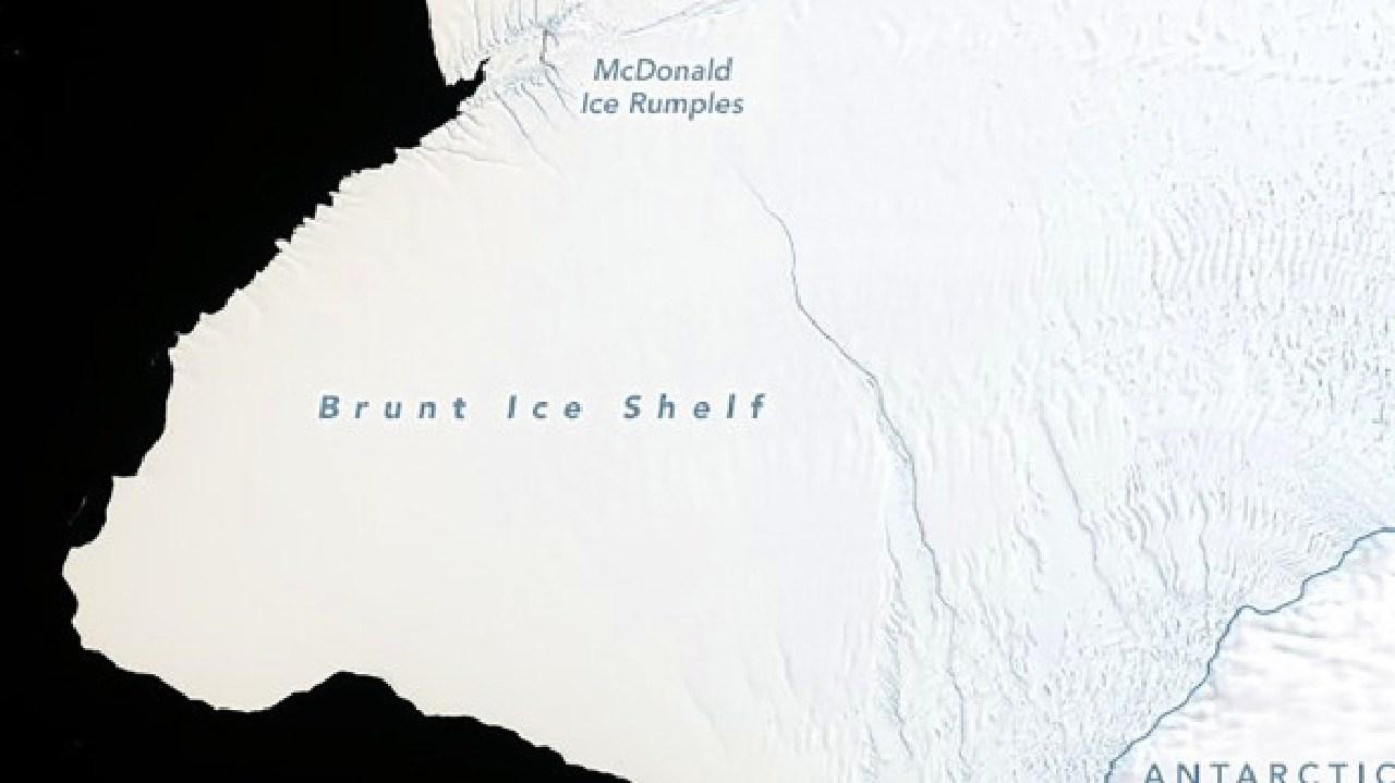 NASA scientists warn a massive iceberg will soon break off from Antarctica's Brunt Ice Shelf.