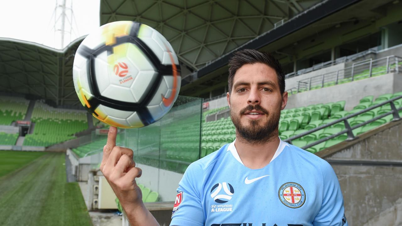 Bruno Fornaroli in happier days at Melbourne City. Picture: Jay Town