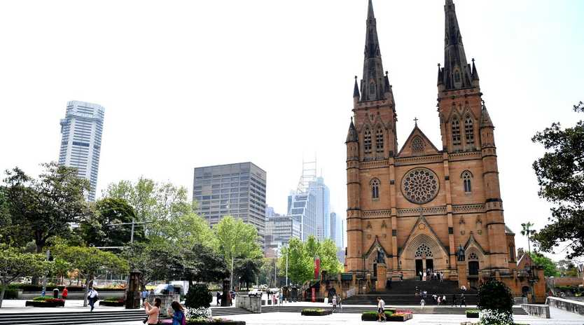 St Mary's Cathedral in Sydney where the plaque in honour of Pell is situated. Picture: AAP Image/Joel Carrett.