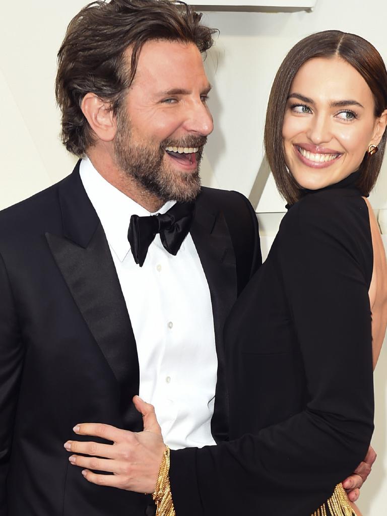 Bradley Cooper, left, and Irina Shayk. Picture: AP