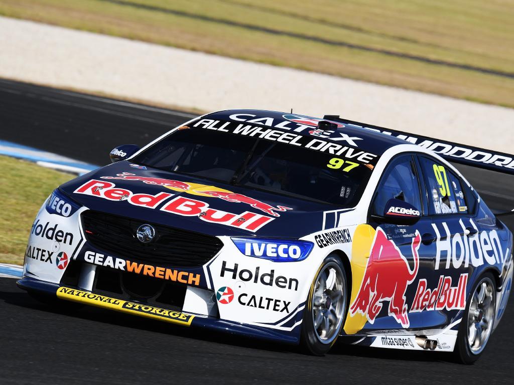 Van Gisbergen puts the Holden to the test.