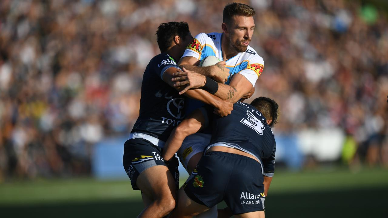 Bryce Cartwright in action during Gold Coast's trial against the Cowboys at Sunshine Coast Stadium. Picture: NRL Photos