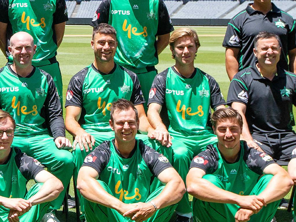 Stoinis and Zampa were at it again in the Melbourne Stars photo.