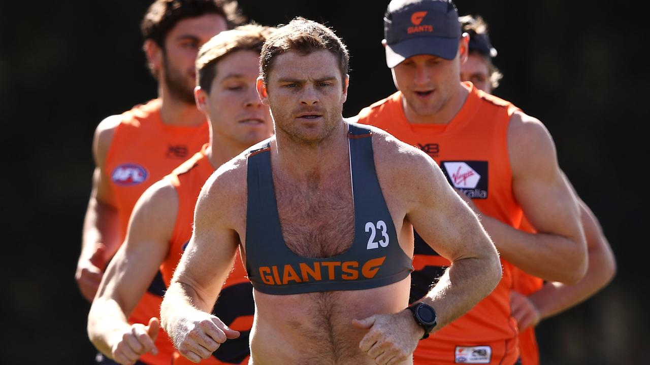 Giants veteran Heath Shaw is out of contract at the end of the season. Picture: Getty Images