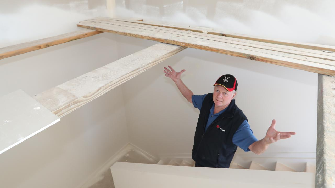 Retiree Glen Campbell was one of at least 15 people whose homes were defective or incomplete. Photo: Richard Gosling