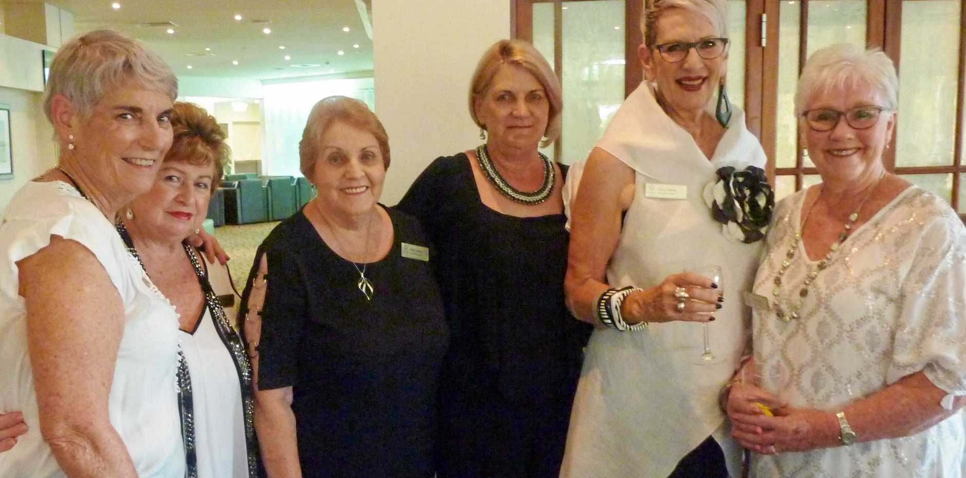 Caloundra Evening VIEW members (from left) Clodagh Barwise-Smith, Linda Warner, May Thomas, Rosemary Loughran, Chris Keates and Di Townsend were excited to be reunited at the VIEW Club's 2019 Friendship Dinner at Pelican Waters Golf Club.