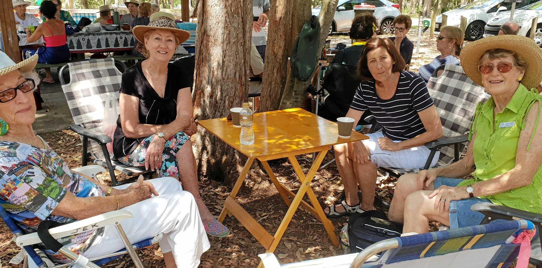 Probus Club of Currimundi Combined ladies enjoying lunch.