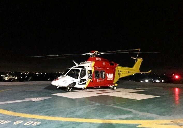 The Westpac Lifesaver Helicopter Service has been tasked to airlift a cruise ship passenger to Coffs Harbour.