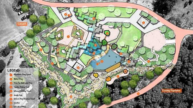 NEW FACILITIES: The concept plans for proposed upgrades to Emerald Botanic Gardens.