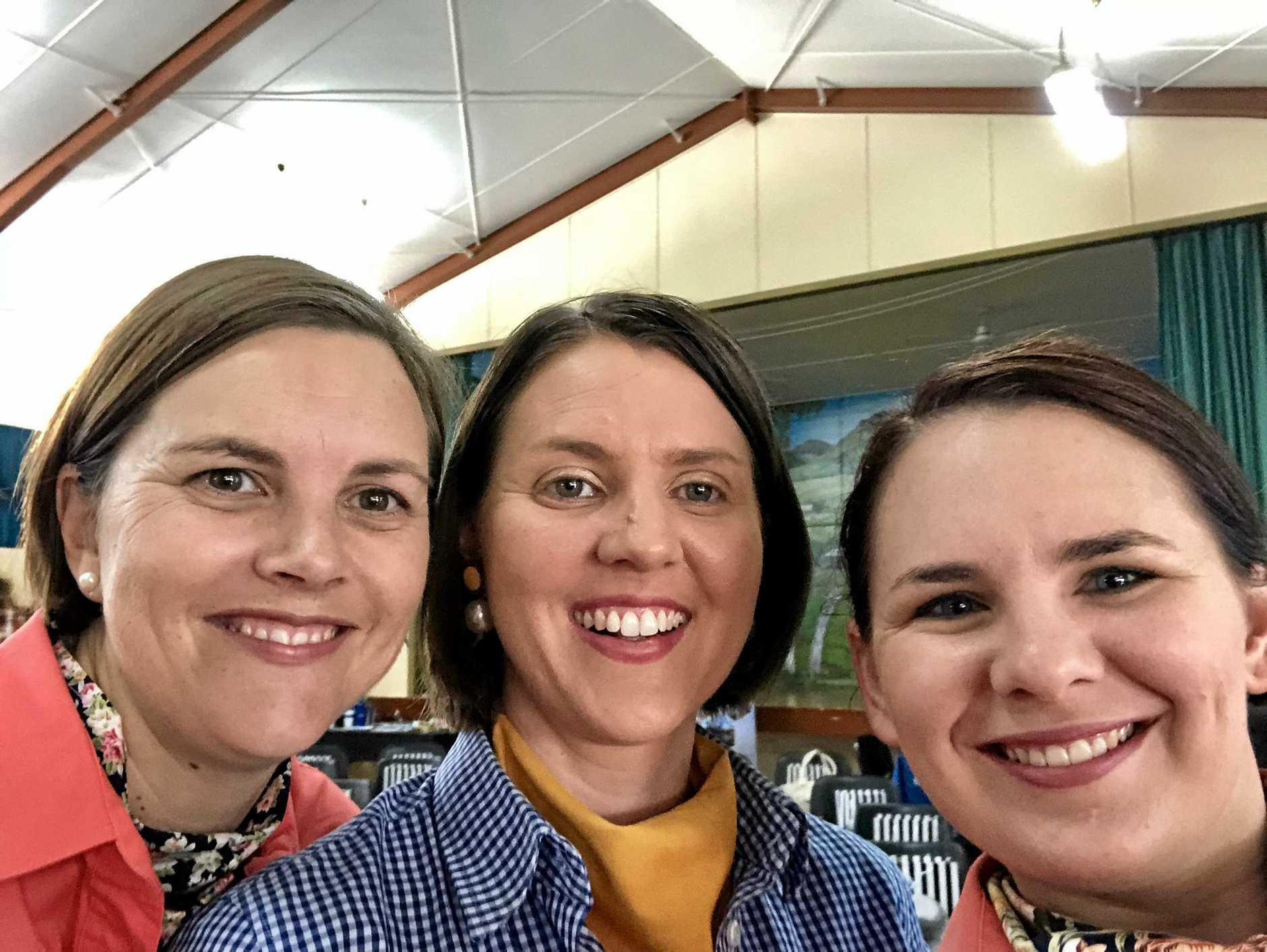 BIEDO CEO Kristy Frahm, Northern AgriServices representative Jess Bargenquast and BIEDO representative Sarah Aberdein.