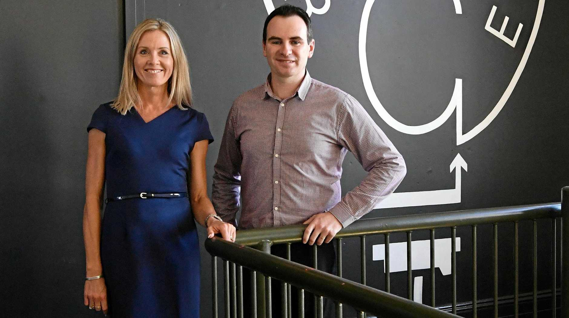 FLYING VISIT: Tanya O'Shea and Marcus McCormick are going to Silicon Valley, where they will get the chance to meet industry leaders.