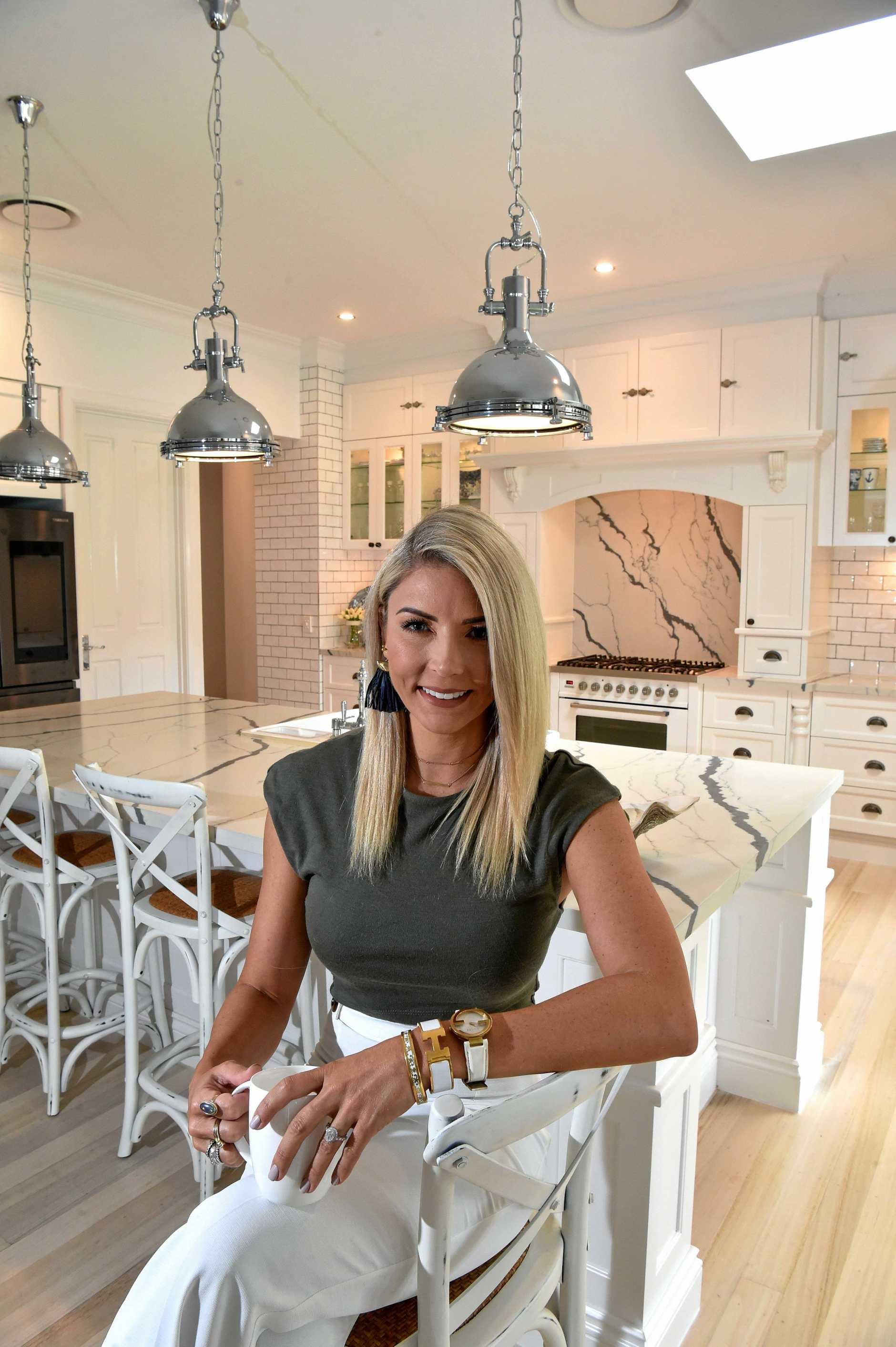 Interior designer Danni Morrison coverted her home, inspired by the Hamptons beach house theme.