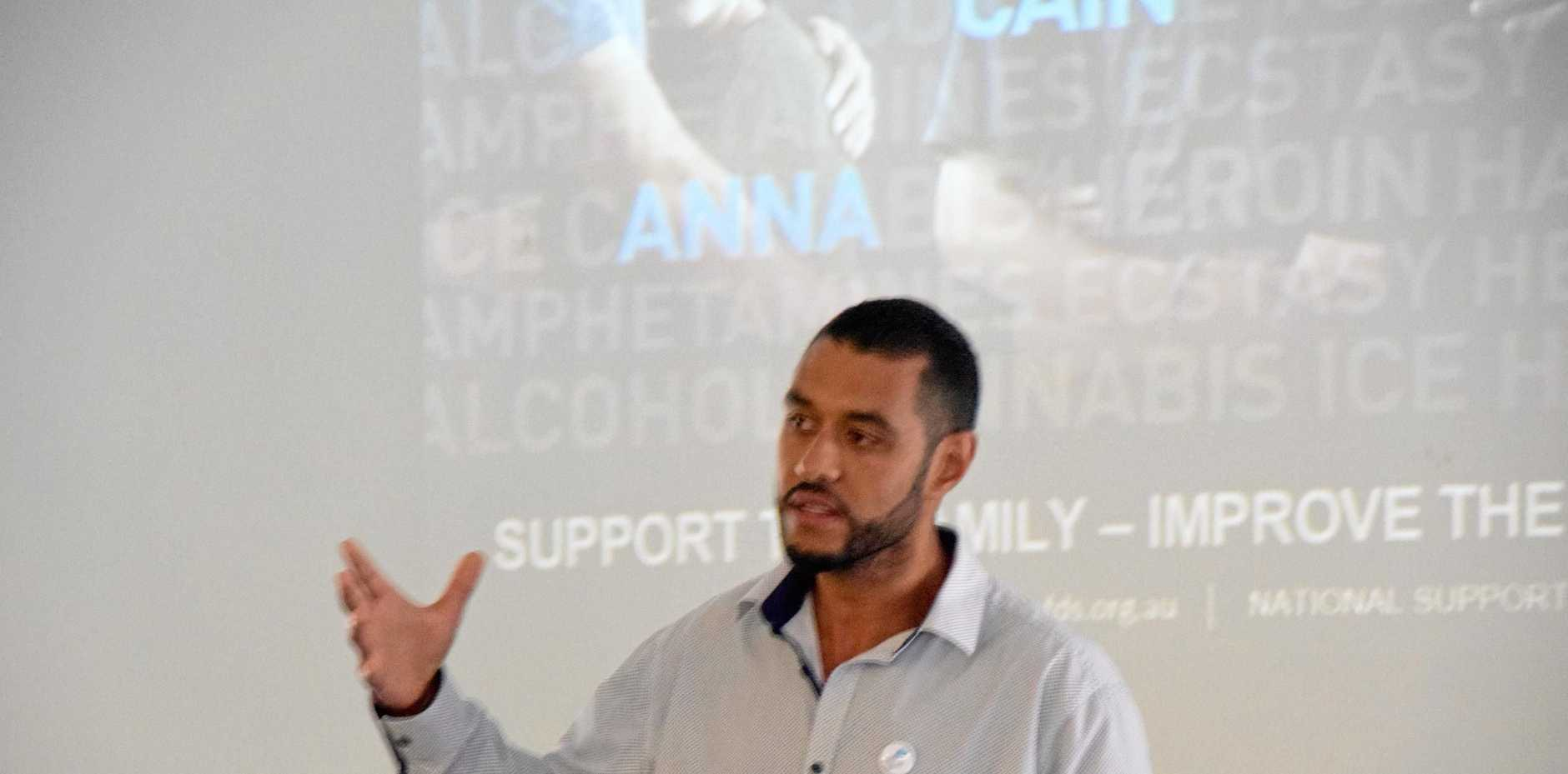 Mustafa Elkhishin from PHN was among the speakers at the Family Drug Support event