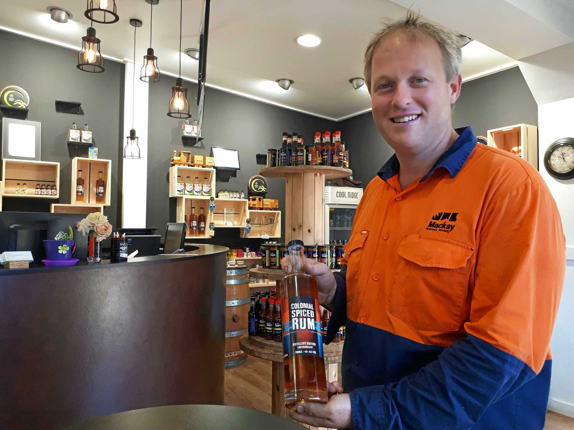 SWEET REWARD: Sarina Sugar Shed distiller Steve Maggery and his team are up for an award.