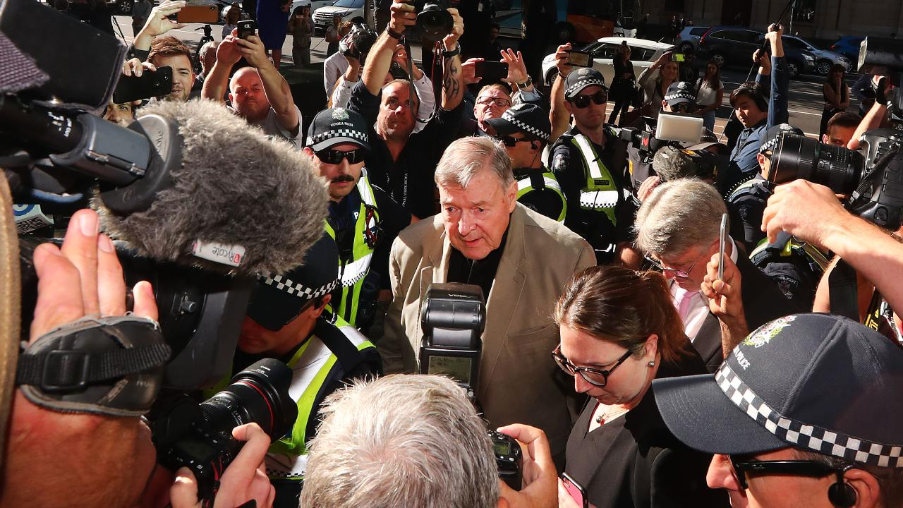 George Pell arrives at Melbourne County Court on February 27. Picture: Michael Dodge/Getty Images