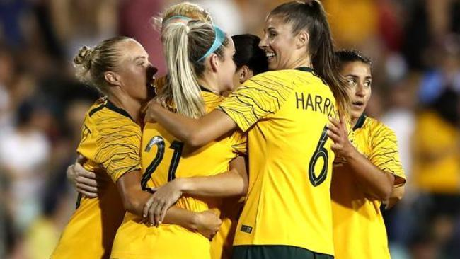 Hayley Raso grabbed the second for the Matildas in the second half.