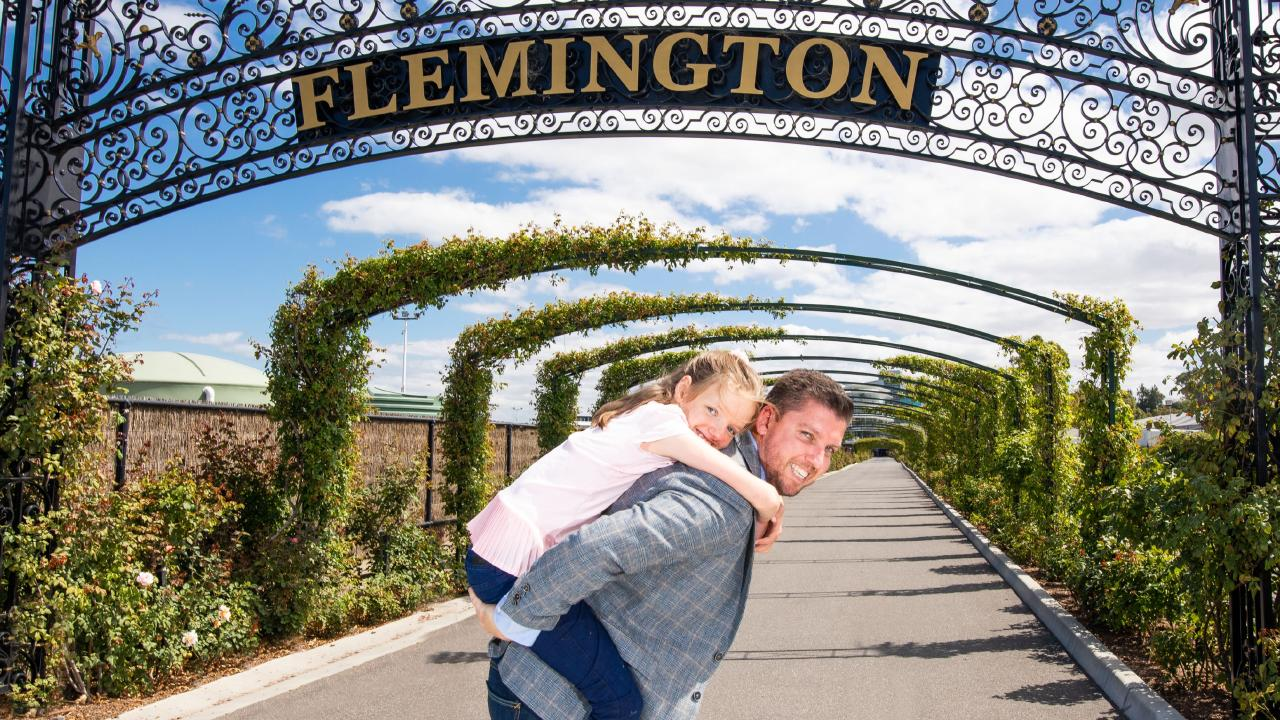 The Victoria Racing Club will make Very Special Kids its official charity for it's Pin and Win initiative this year. Alannah Kiefer, 11, suffers from an undiagnosed genetic syndrome and requires 24-hour care for all her medical and personal needs. She is supported by the charity. Chris and Alannah Kiefer at Flemington Racecourse 2.jpg