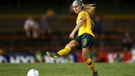 Ellie Carpenter had a great game for the Matildas