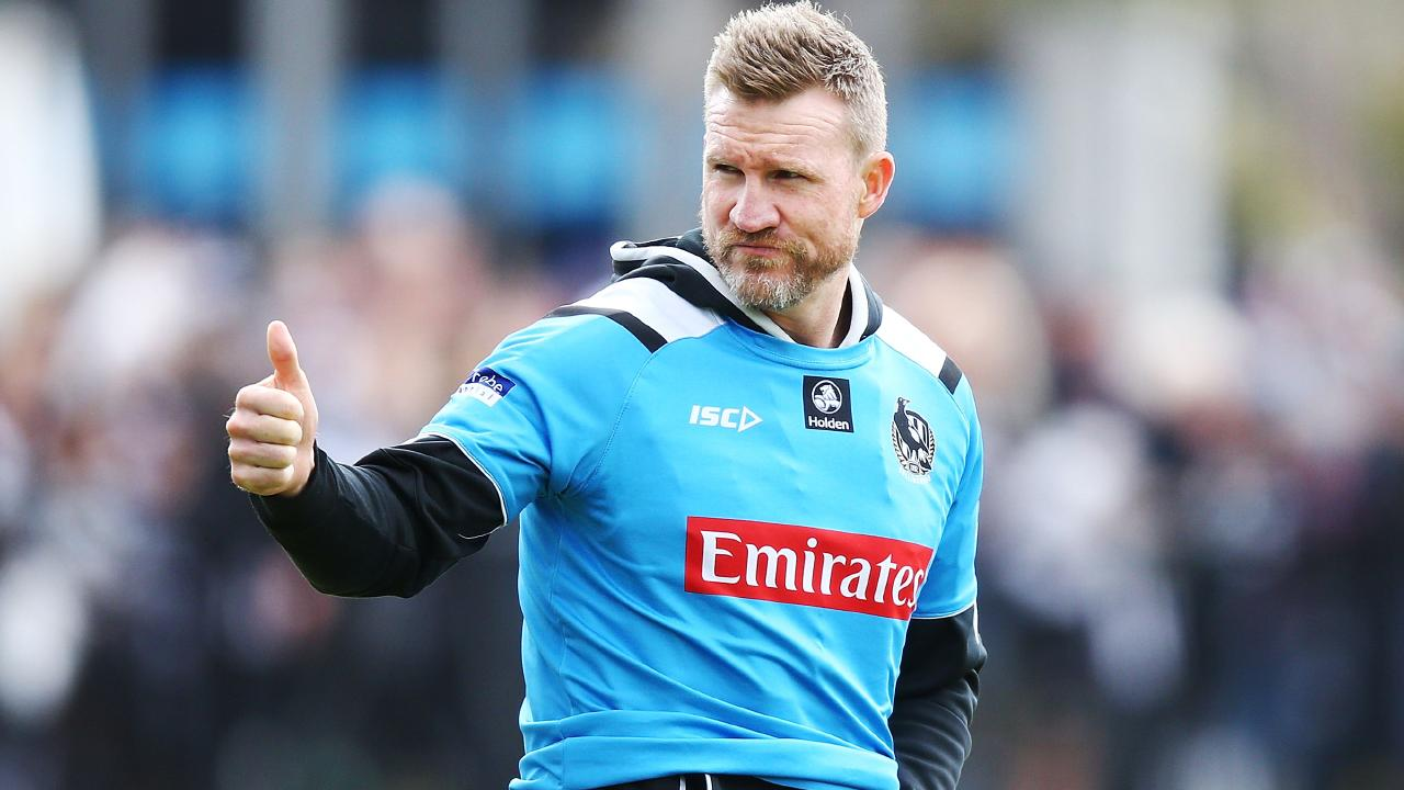 Collingwood's 2018 form has earned Nathan Buckley a contract extension. Picture: Michael Dodge/Getty Images