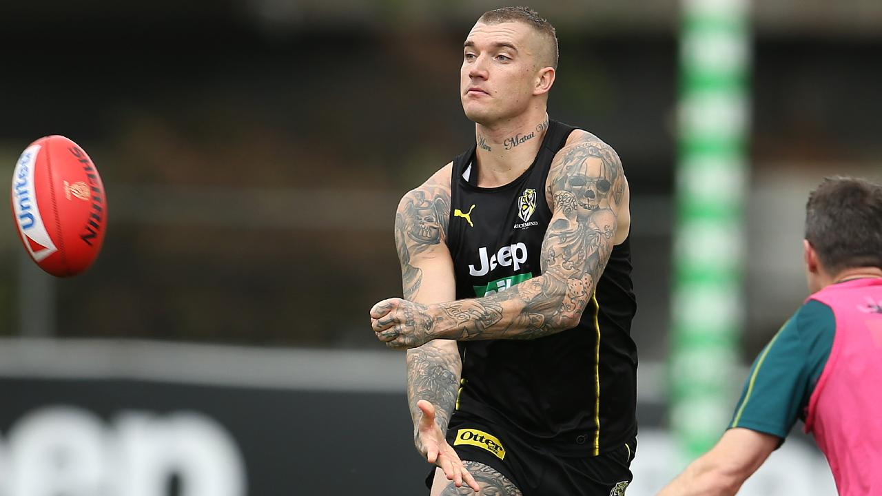 Dustin Martin impressed Jonathan Brown during Richmond's intra-club. Picture: Michael Klein
