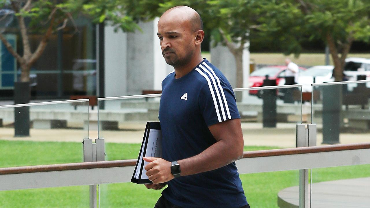 Mohamed Zaahid Pandie outside Brisbane Magistrates Court yesterday. Picture: Liam Kidston