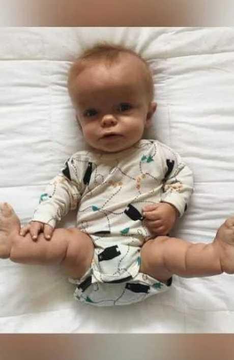Finally Leo was allowed to leave the hospital. Source: Olivia Hewetson