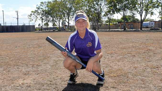 BIG HIT: Bundaberg's Chelsea Zunker has been picked for Australia in softball.