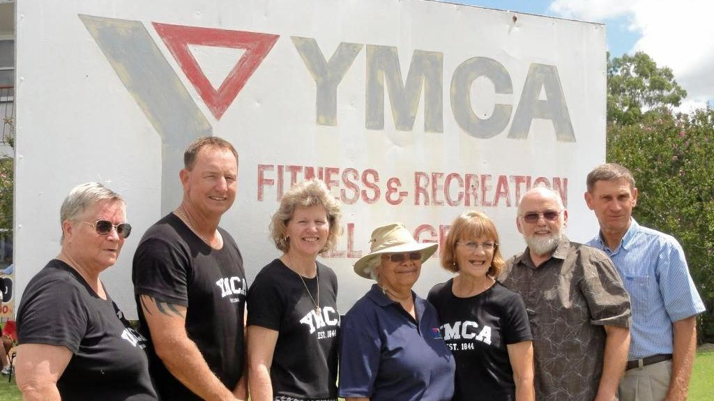 YMCA: Committee members at the club's 30th anniversary.