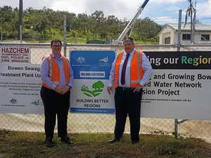 Sewage plant work ahead of schedule