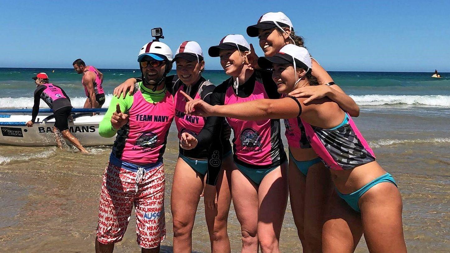 CHAMPS: Noosa Heads' reserve women's crew.