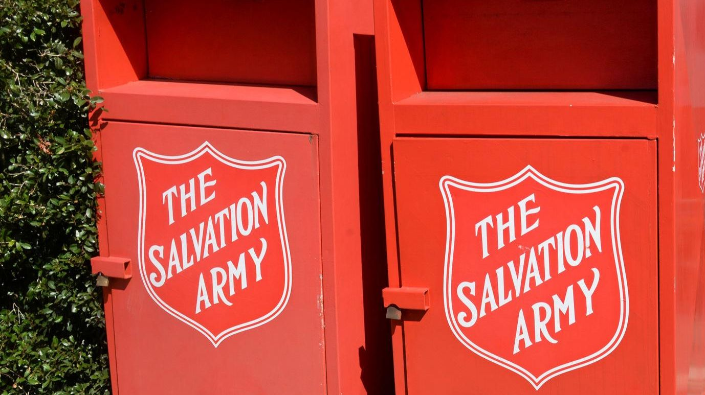 Salvation Army bins are meant for community donations but often receive a lot more.