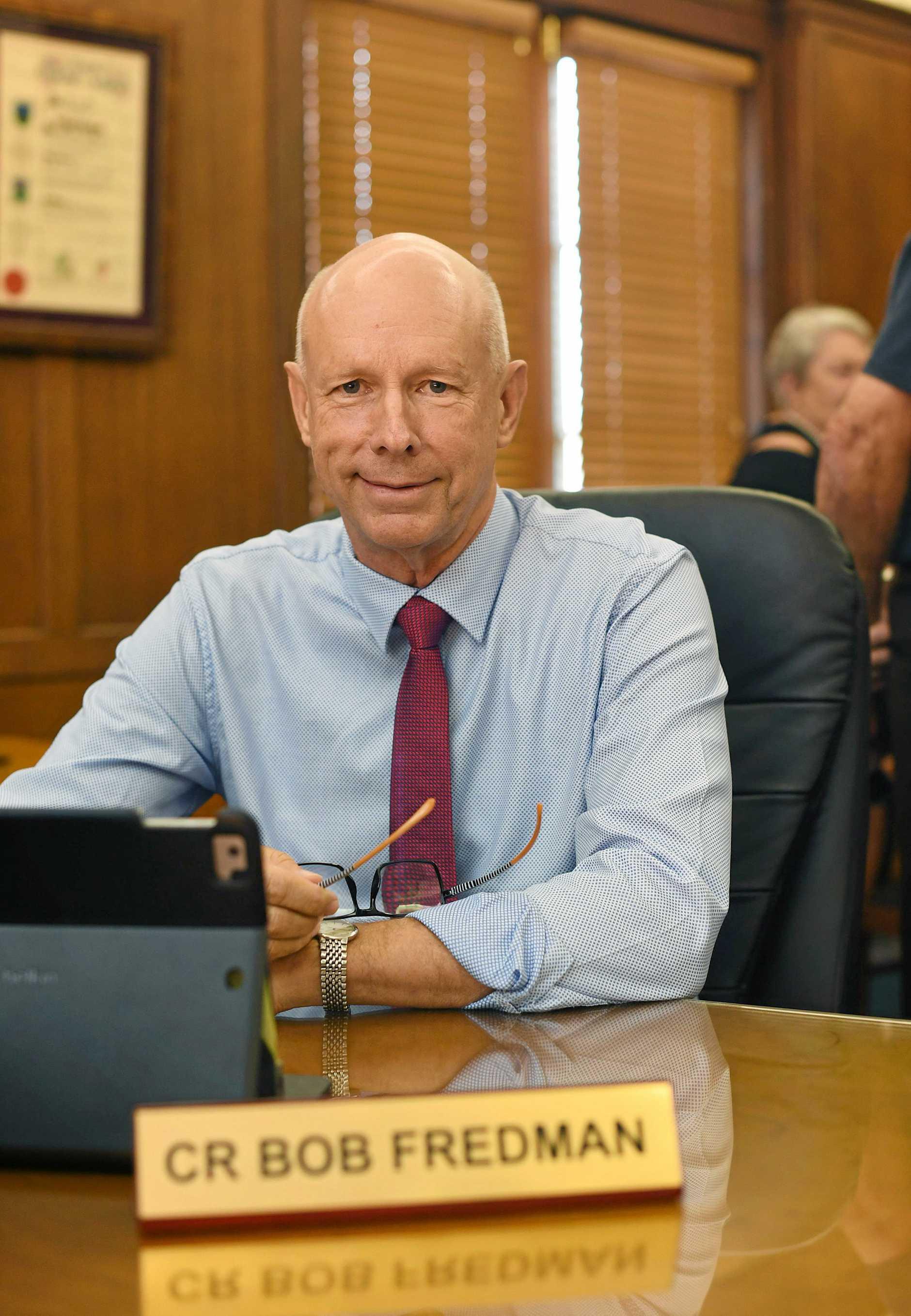Councillor Bob Fredman. Gympie Regional Council