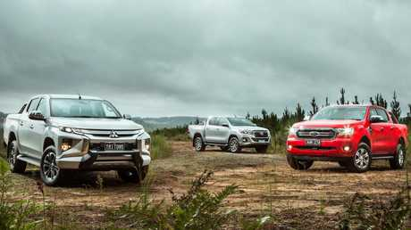 Dynamic trio: Mitsubishi Triton, Toyota HiLux and Ford Ranger