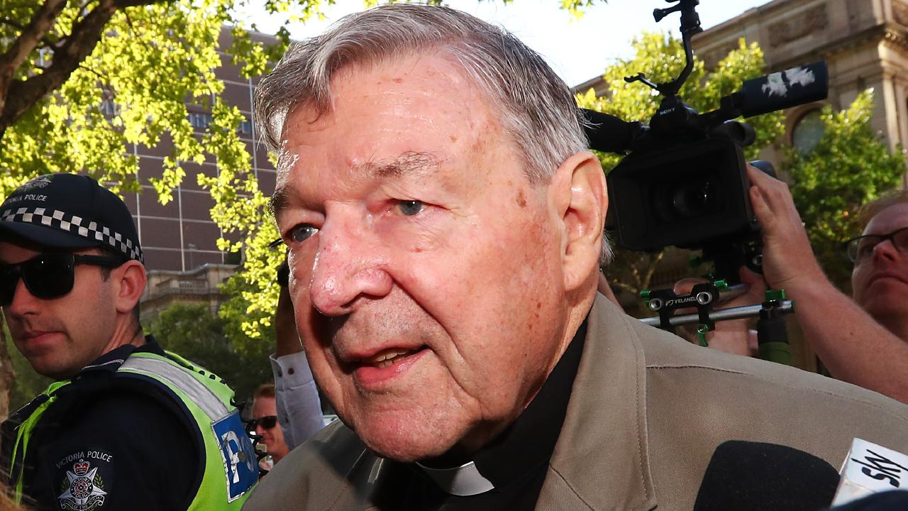 Cardinal George Pell arrives at Melbourne County Court on February 27 in Melbourne. Picture: Michael Dodge/Getty Images.