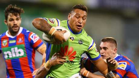 Josh Papalii is improving his workrate for the Raiders. Picture: Mark Nolan