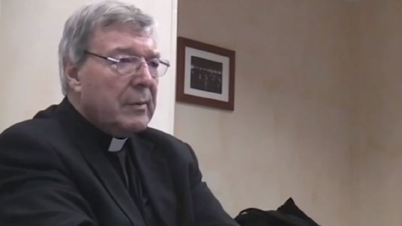 George Pell in his police interview in Rome.