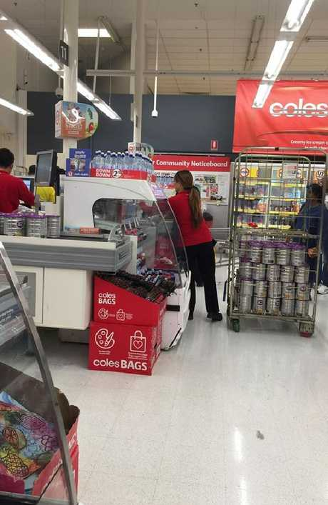 Coles customer Deanna Gatt's photo went viral on Facebook.