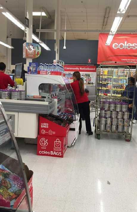 Coles customer Deanna Gatt's photo went viral on Facebook.