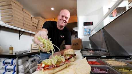 Dan McKennariey at DannyBoys which is Brisbane's #1 rated restaurant on Uber Eats. Pics Tara Croser.