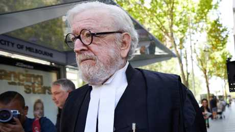 Cardinal George Pell's lawyer Robert Richter QC leaves the County Court in Melbourne on Wednesday. Picture: AAP /Erik Anderson.