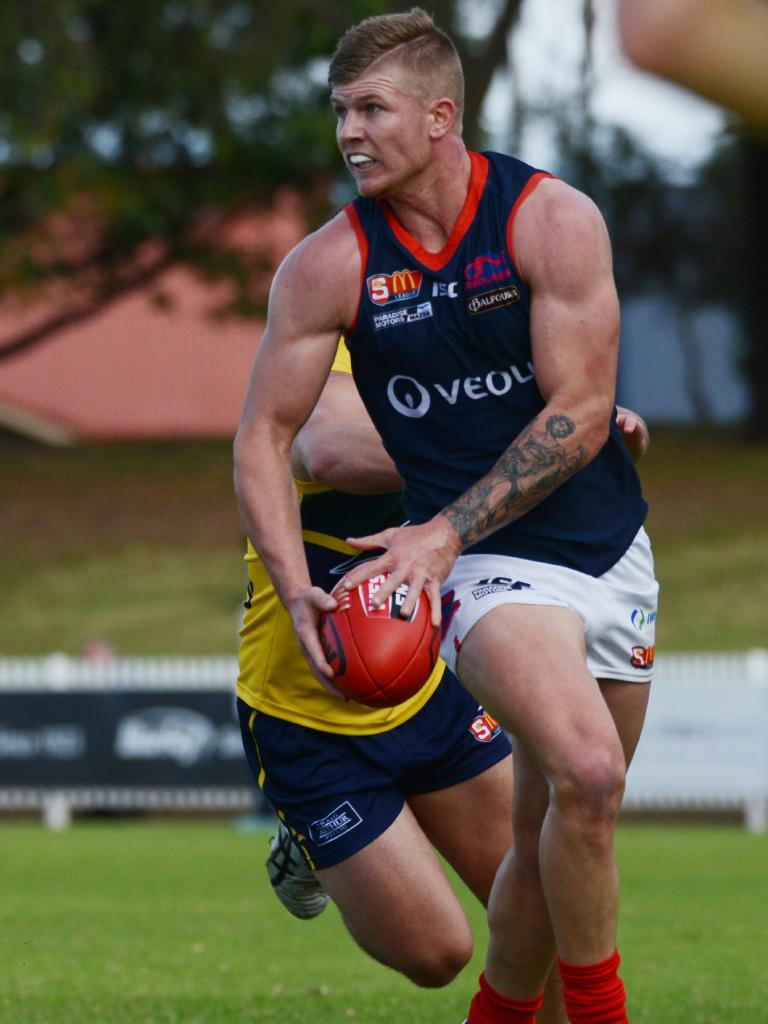 Josh Glenn in action for Norwood against Woodville-West Torrens in May last year. Picture: Brenton Edwards/AAP