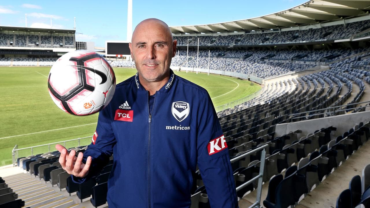 Melbourne Victory coach Kevin Muscat at GMHBA Stadium in Geelong. Picture: Glenn Ferguson