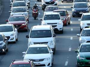 Crashes causing delays for city-bound commuters